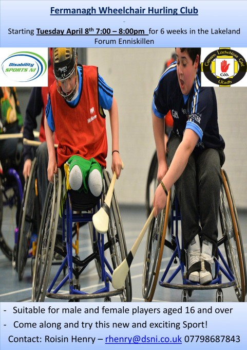 Fermanagh Wheelchair Hurling Poster