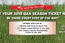2015 GAA Season Ticket
