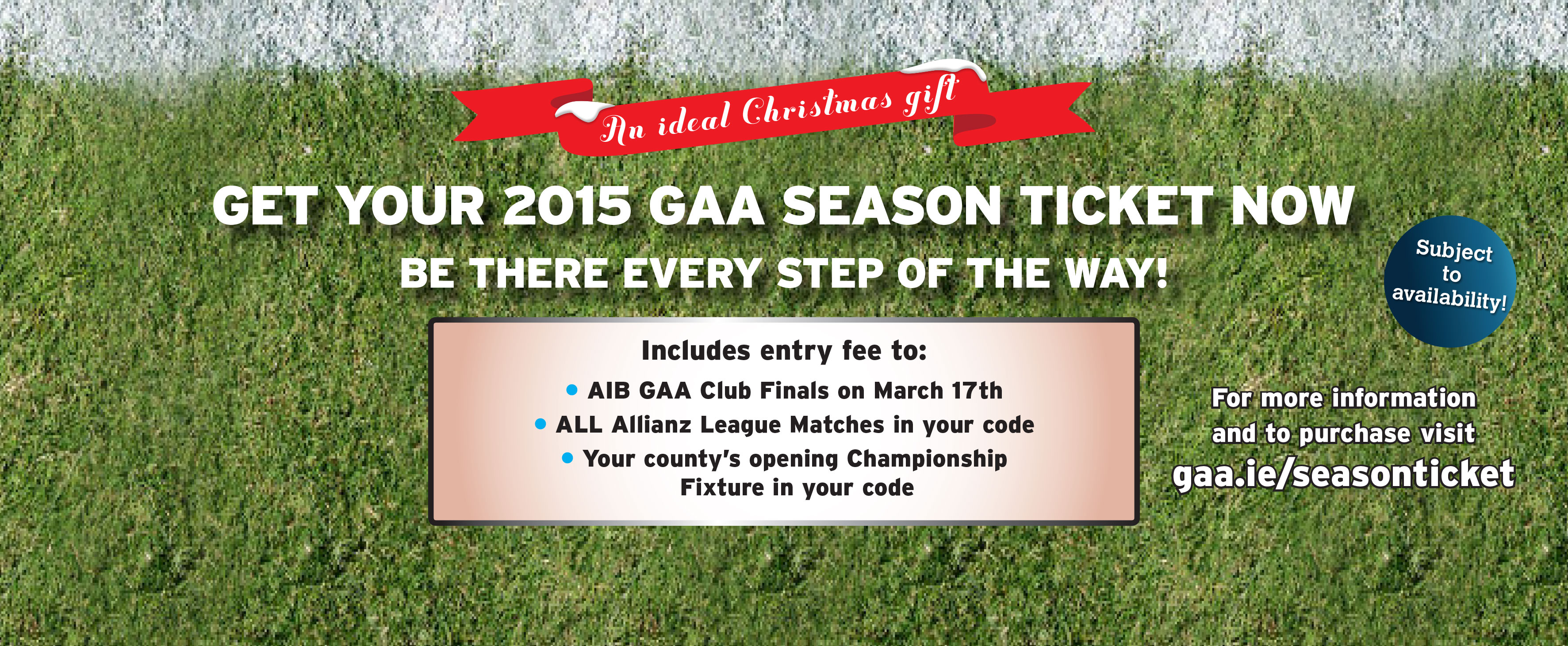 2015 GAA Season Ticket