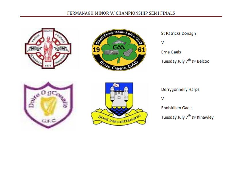 Fermanagh Minor 'A' and 'B' Champ Semi Finals
