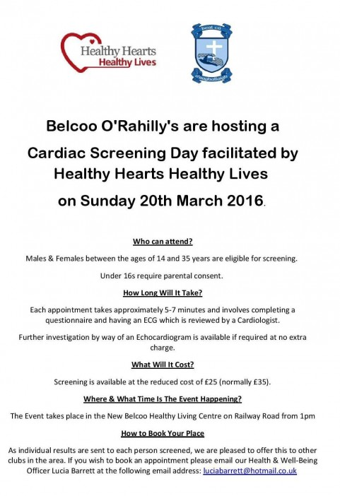 Belcoo Cardiac Screening
