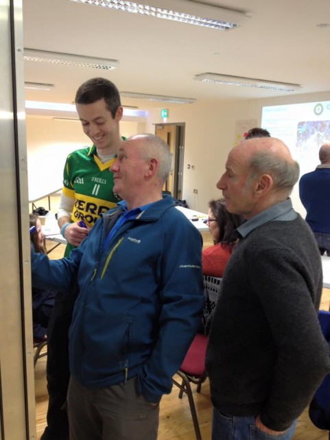Tim Flaherty, Tony McGourty and Paul McGrath (Members of Belcoo GAA) taking part in concussion Awareness Evening
