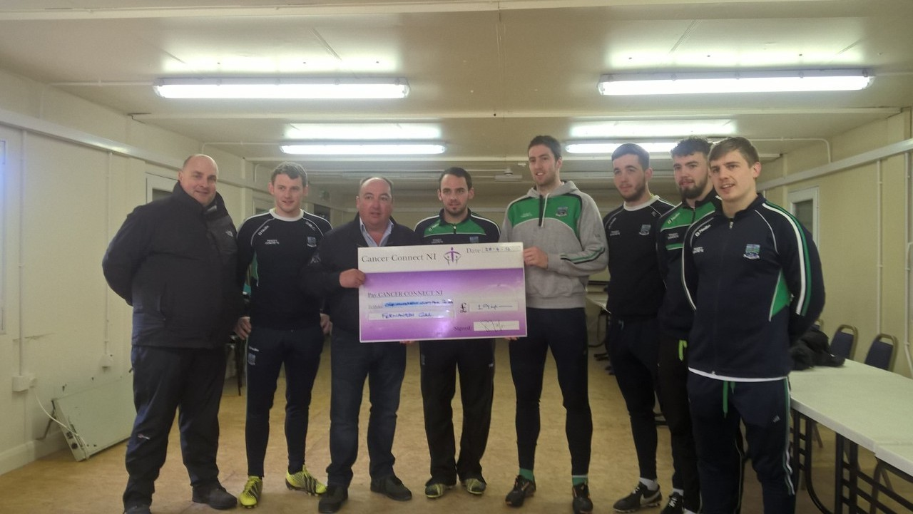 Fermanagh GAA give to Cancer Connect NI