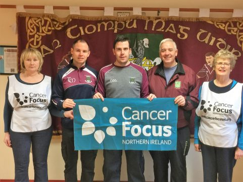 Members of Tempo GAA Social Committee with representatives of Cancer Focus NI at the Launch of the Couch to 5K programme