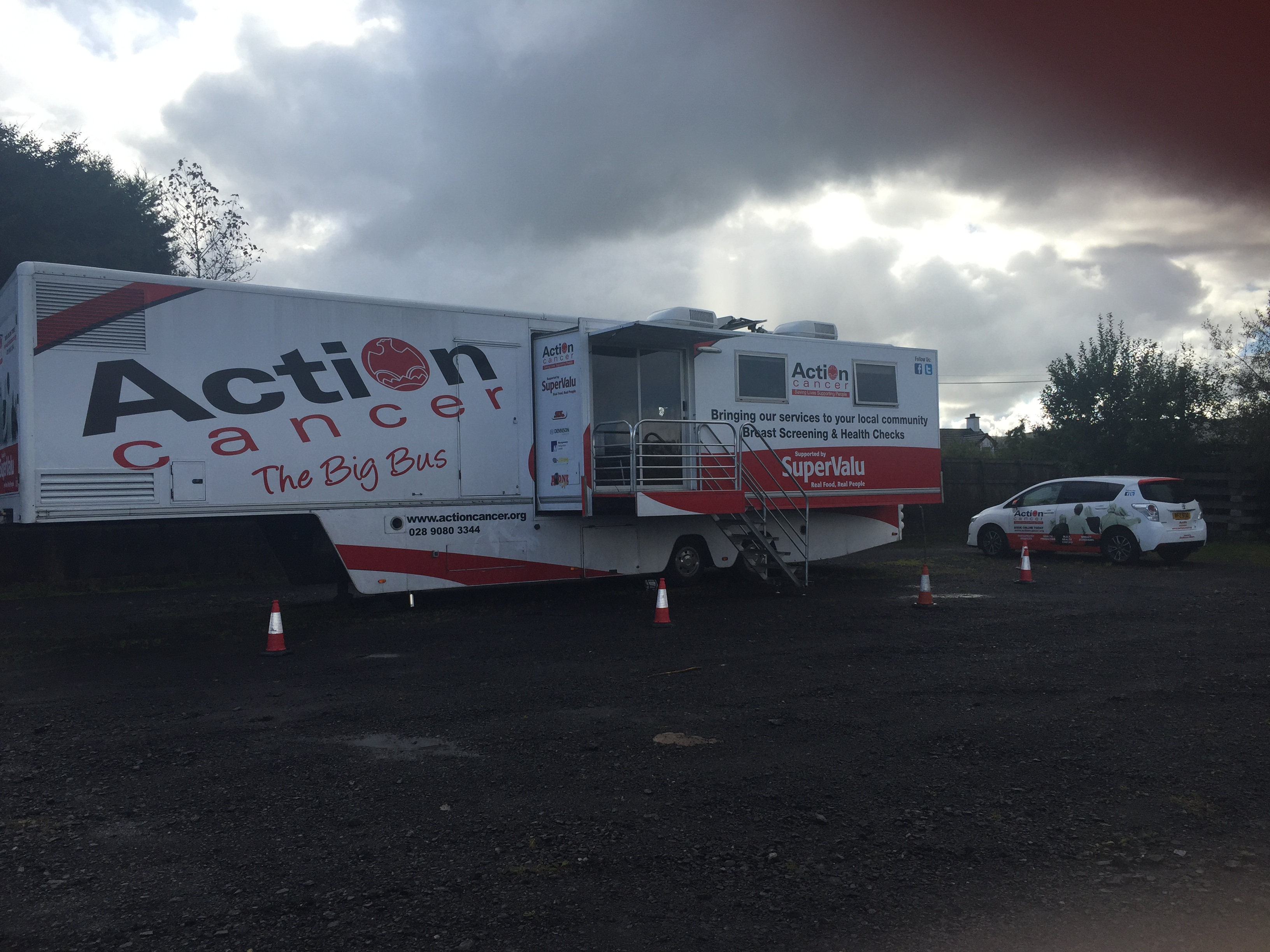 Action Cancer's Big Bus visited Derrygonnelly Harps