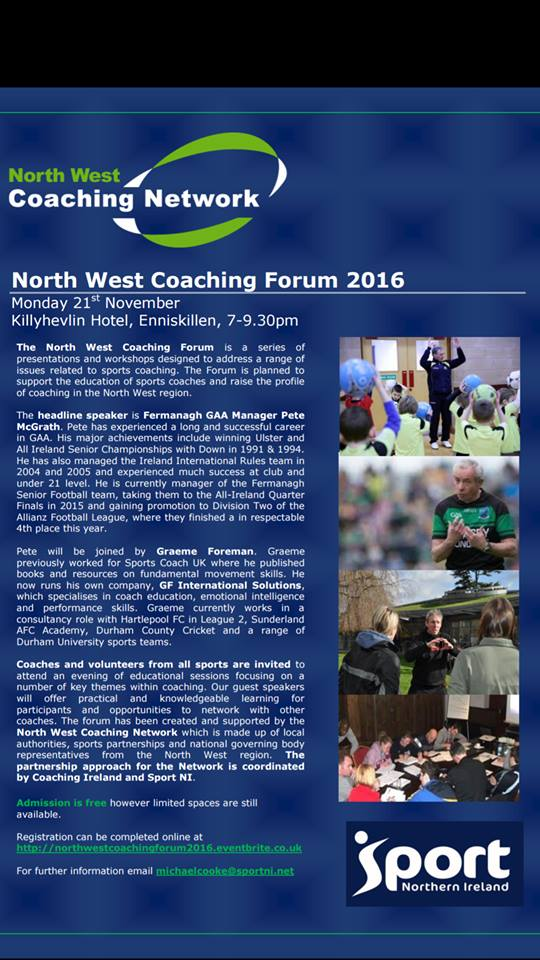 North West Coaching Forum 2016