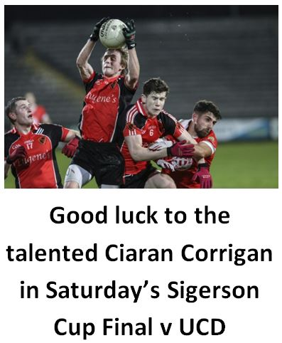 Good luck Ciaran