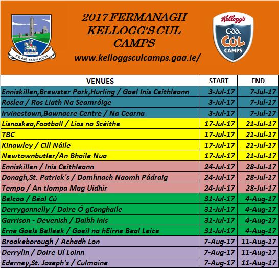 Fermanagh Kellogg's Cul Camps 2017