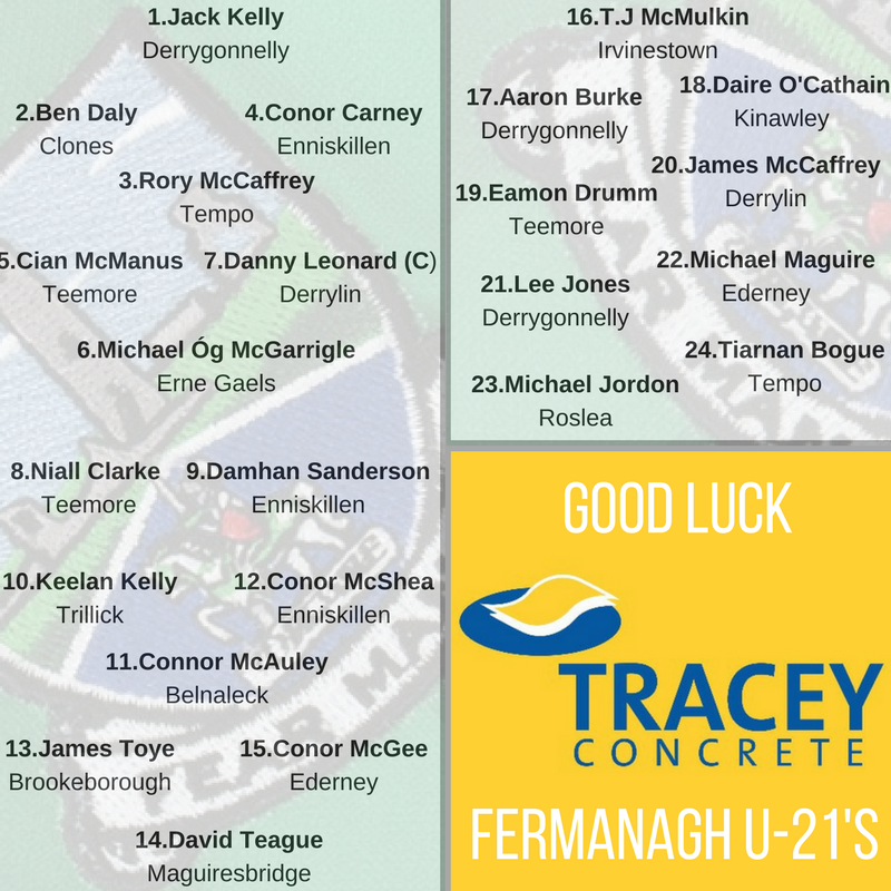 Fermanagh Under-21 squad