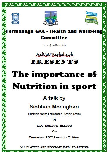 Belcoo GAA present a night for Health & Wellbeing