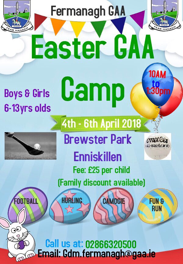 Fermanagh GAA Easter Camp – Book Now