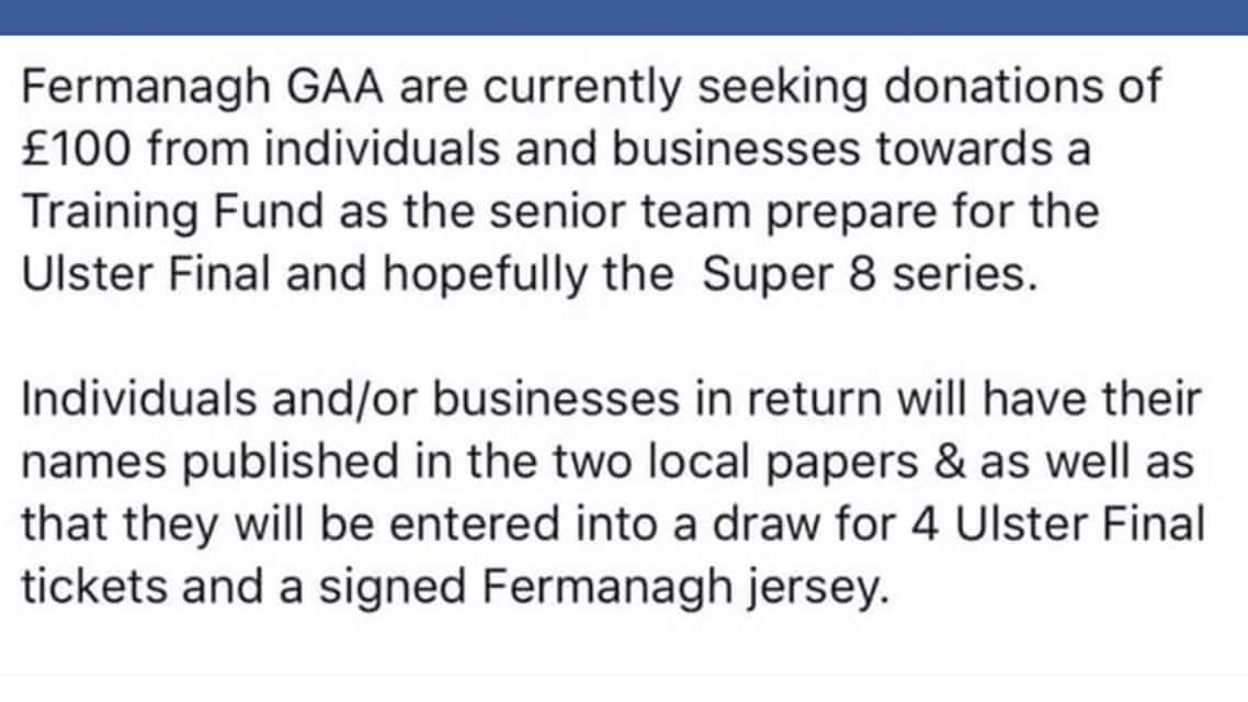 Fermanagh GAA Training Fund