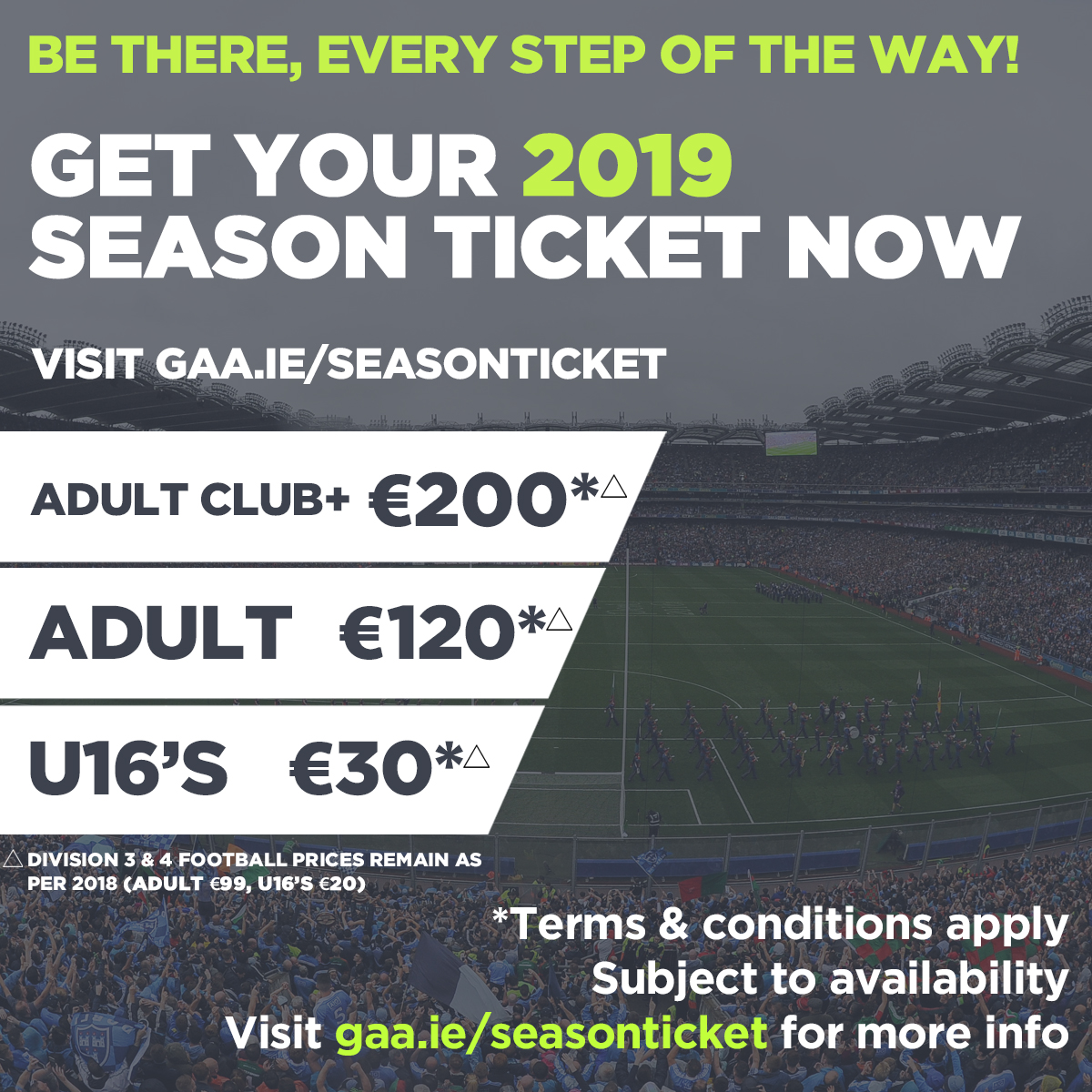 2019 Season ticket