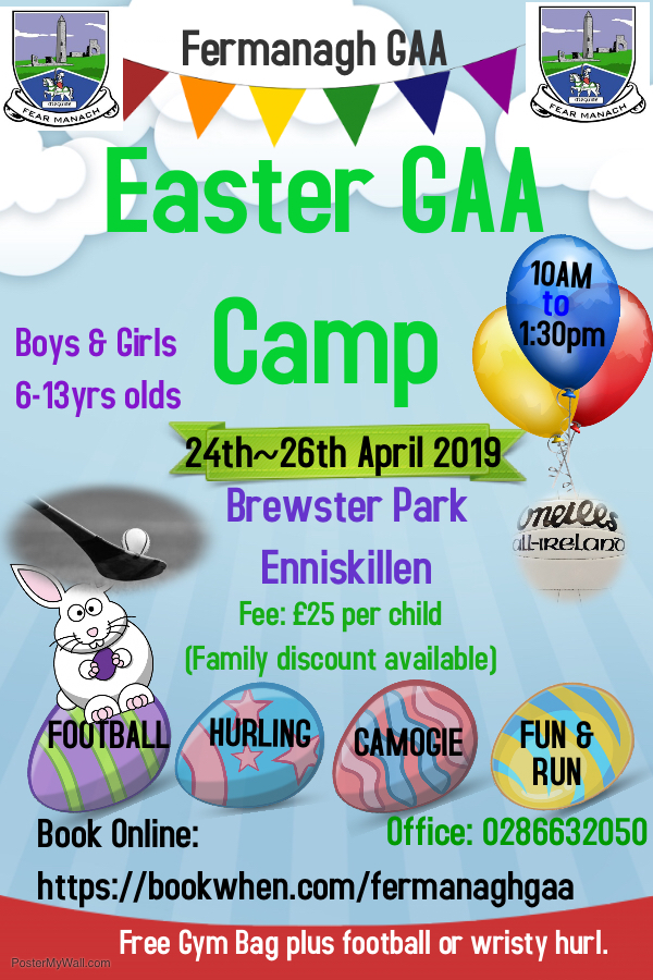 Easter GAA Camp 2019 In Brewster Park