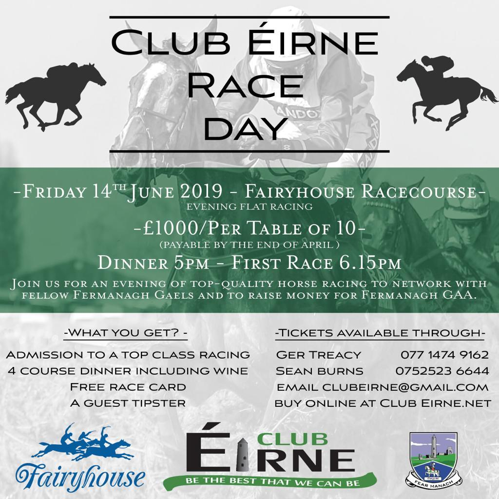 Club Éirne Heads for Fairyhouse – 14th June 2019