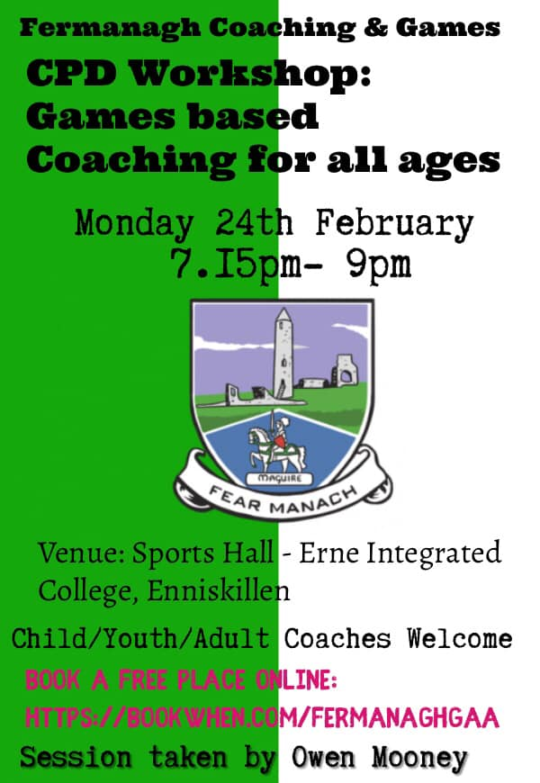 Free Workshop: Games based coaching for all ages