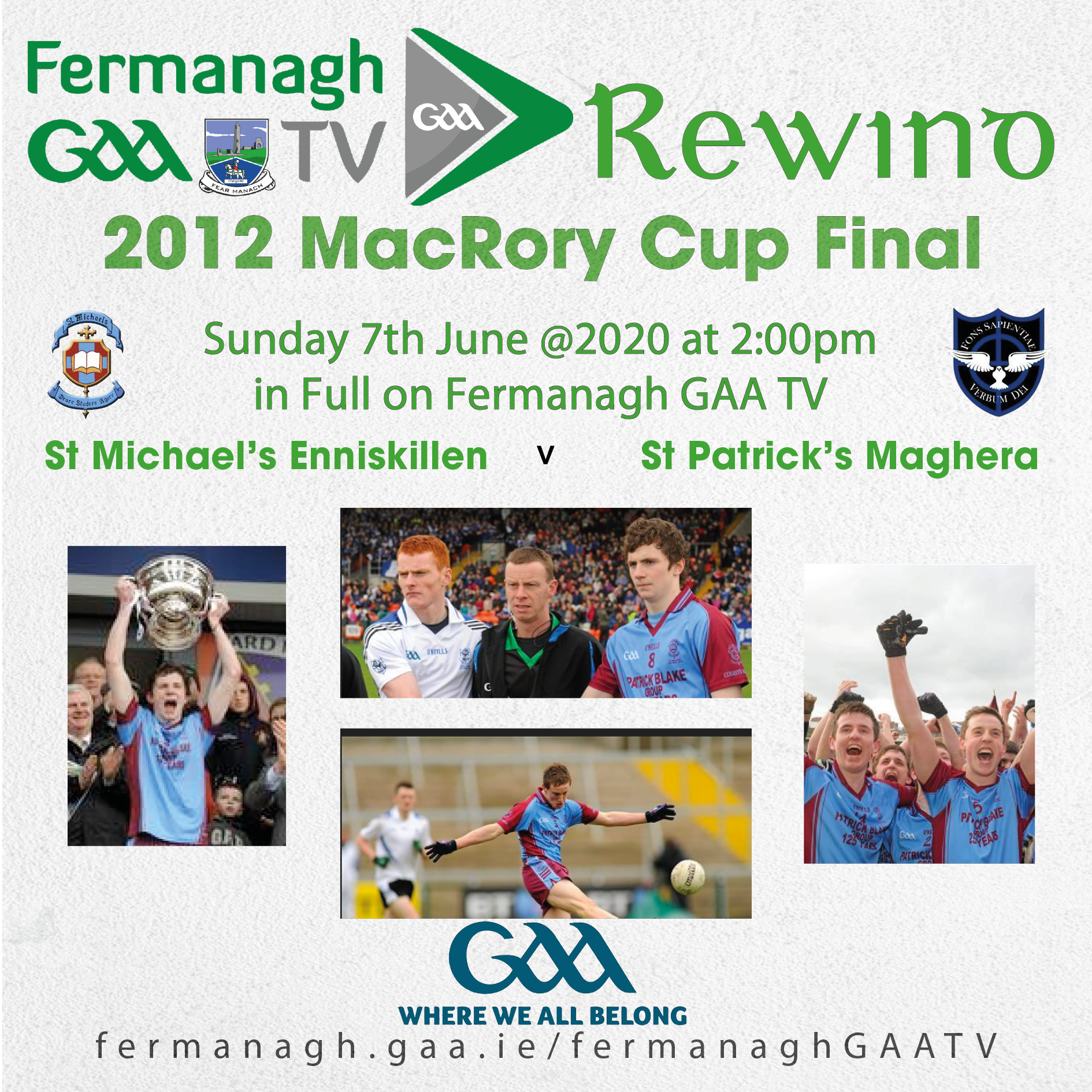 Fermanagh GAA TV Rewind – 7th June 2020 – 2012 MacRory Cup Final