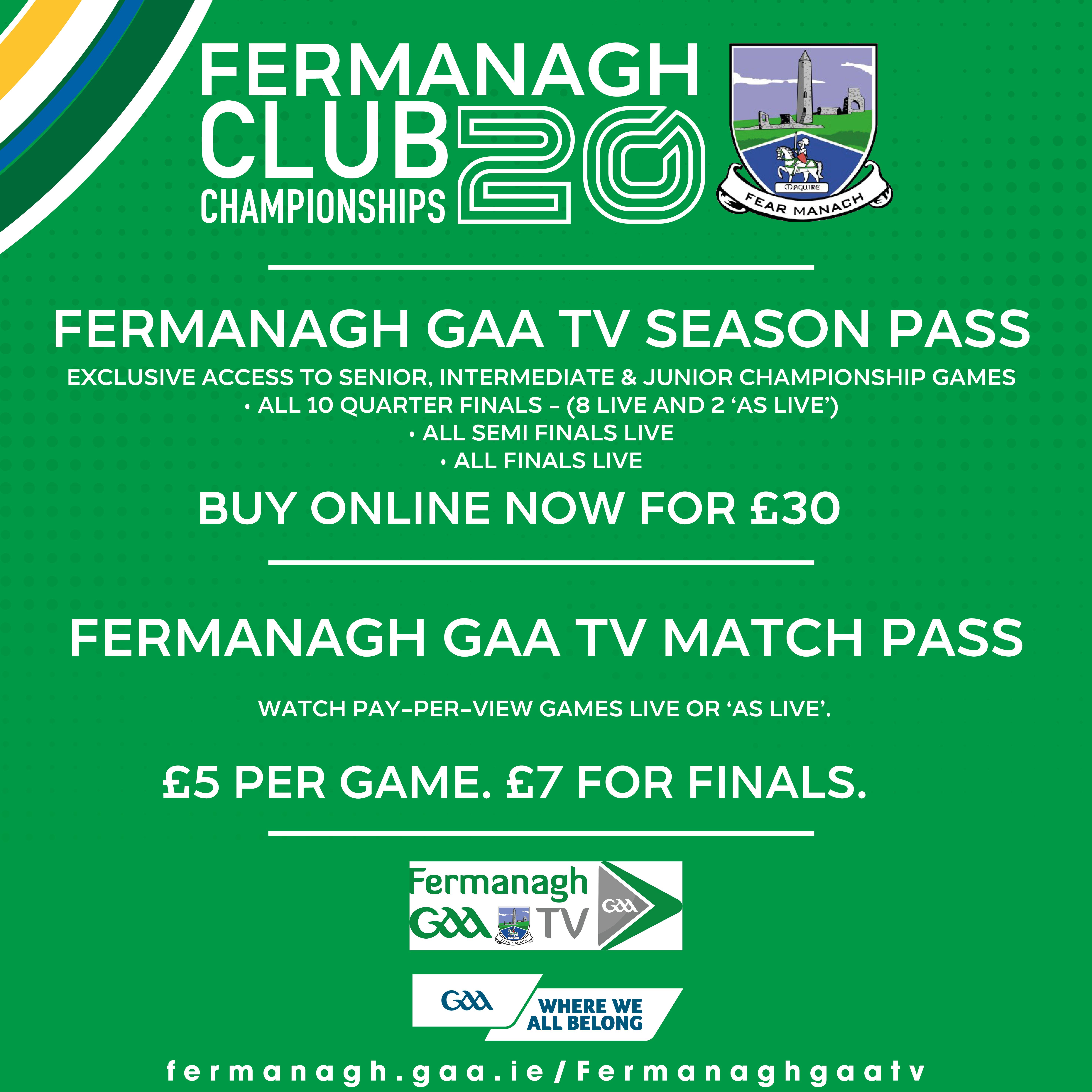 Season Pass for Fermanagh GAA TV