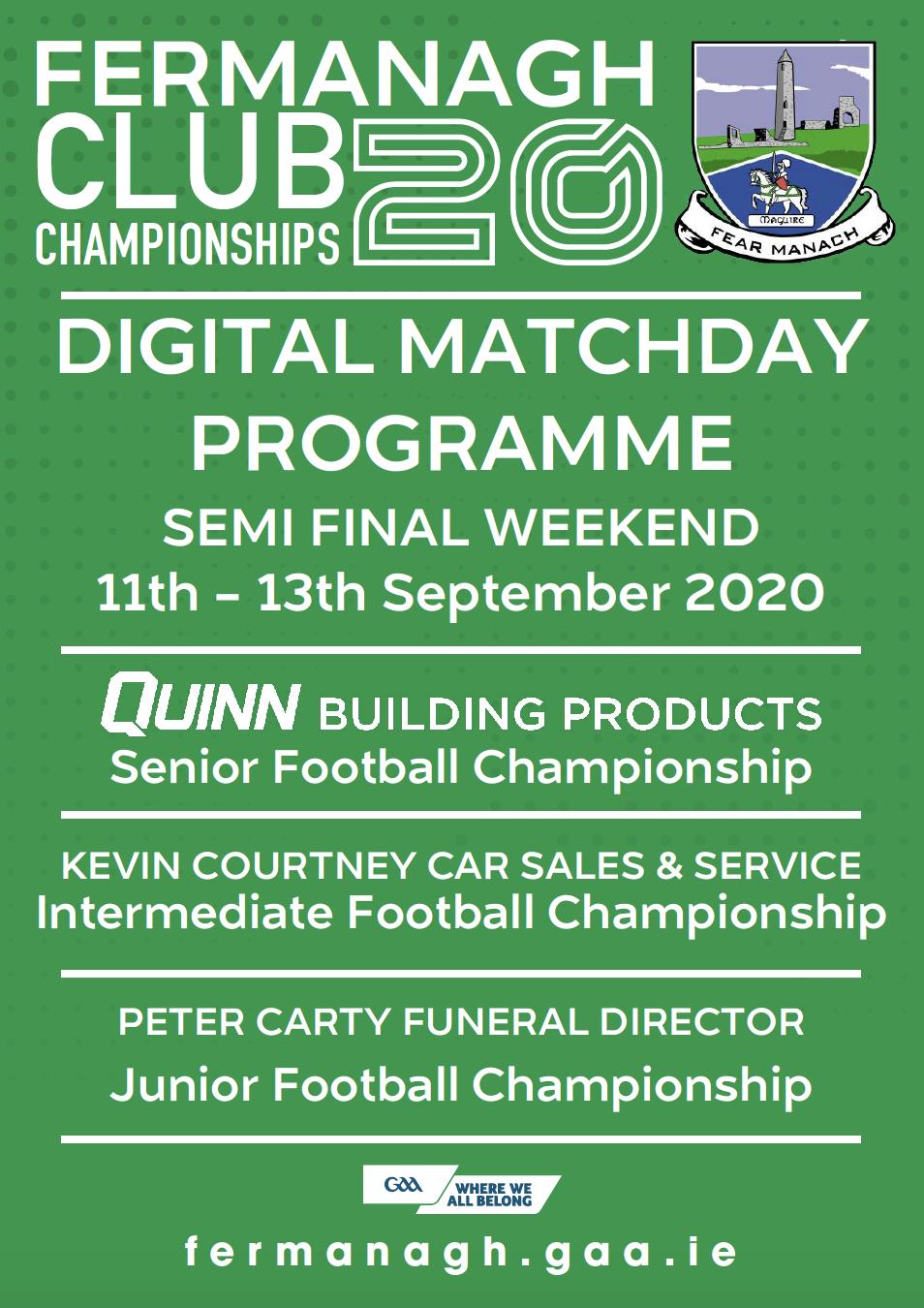 Semi Final Weekend – Club Championship Programme