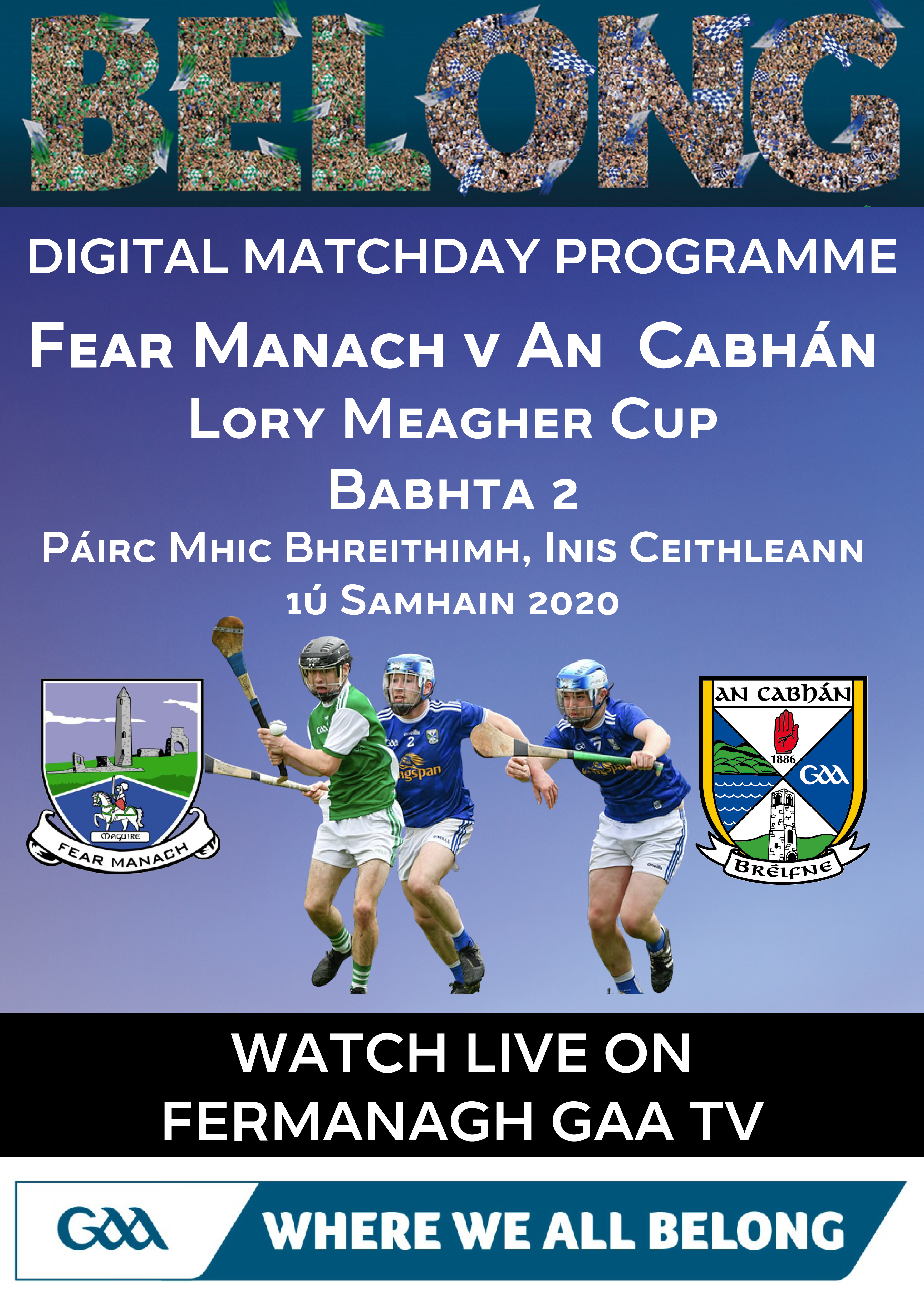 Lory Meagher Cup Round 2 Programme