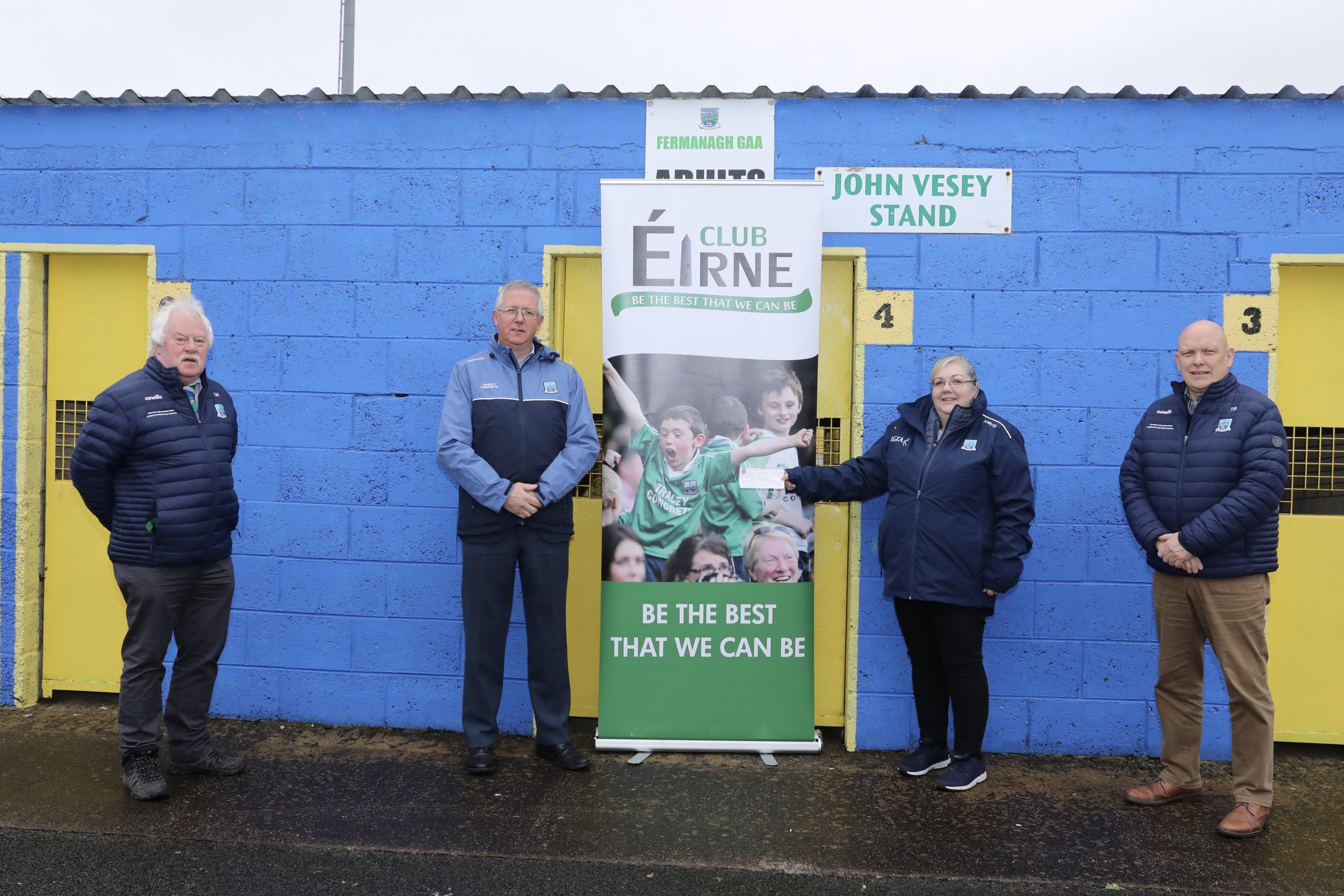 Club Éirne make donation to Fermanagh LGFA